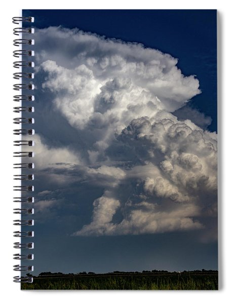 Spiral Notebook featuring the photograph Updrafts And Anvil 008 by NebraskaSC
