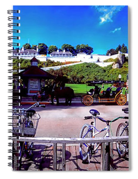 Uper Michigan Mackinaw Island Bike Stand   Spiral Notebook