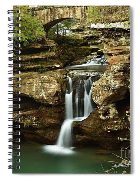 Upper Falls Overview Spiral Notebook
