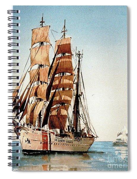 Us Coastguard Tall Ship Spiral Notebook
