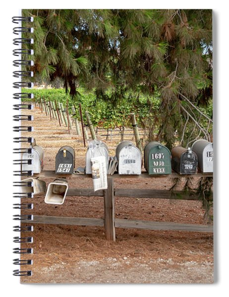 Us Mail Boxes Spiral Notebook