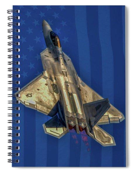 Usaf Lockheed  F-22 Raptor Spiral Notebook