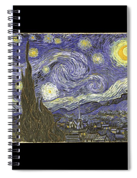 Van Goh Starry Night Spiral Notebook