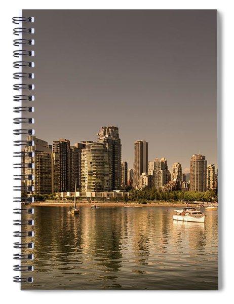 Vancouver Golden Light Hour Spiral Notebook