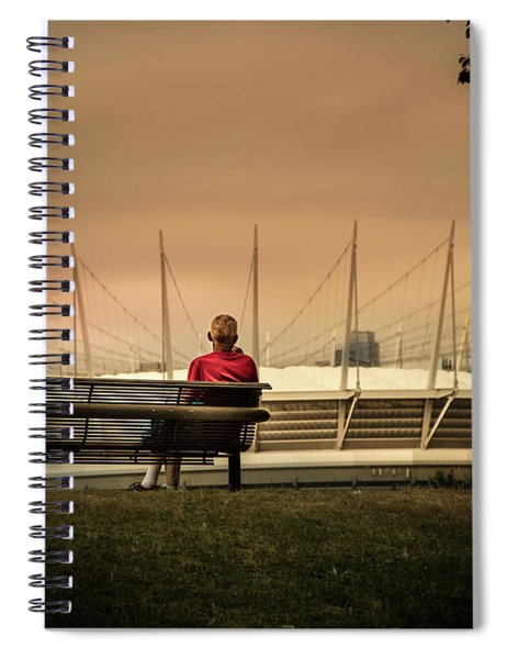 Vancouver Stadium In A Golden Hour Spiral Notebook