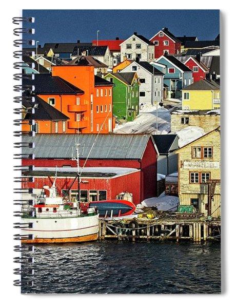 Vardo Town Norway Spiral Notebook