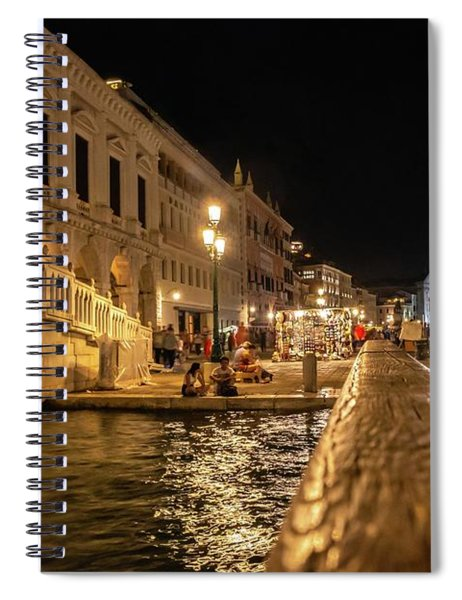 Venice At Night. San Marco Spiral Notebook