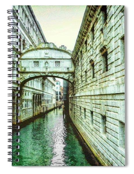 Venice Bridge Of Sighs Spiral Notebook