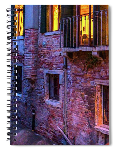 Venice Windows At Night Spiral Notebook