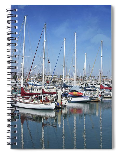 Ventura Harbor  By Linda Woods Spiral Notebook by Linda Woods