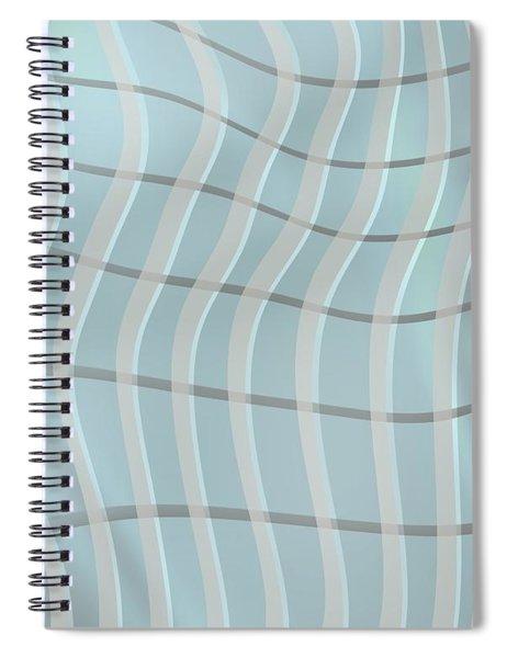 Vertical Waves Over Dark Line Spiral Notebook