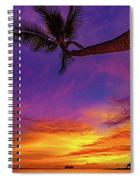 Vibrant Kona Inn Sunset Spiral Notebook