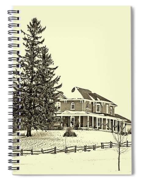Victorian Farmhouse 2 Sepia Spiral Notebook