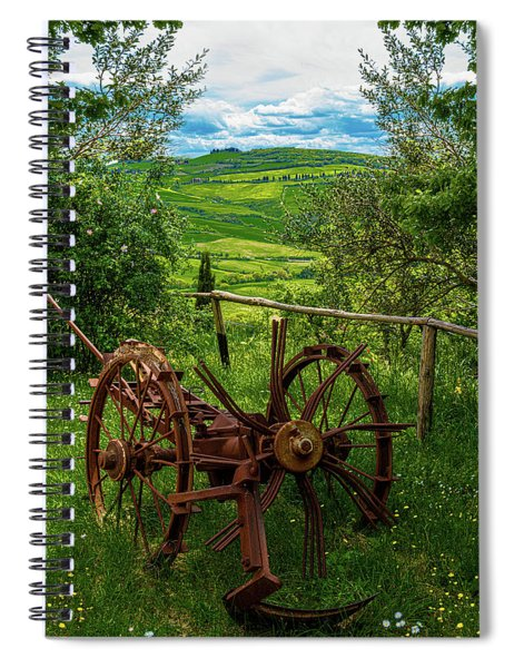 View From A Tuscan Farm Spiral Notebook
