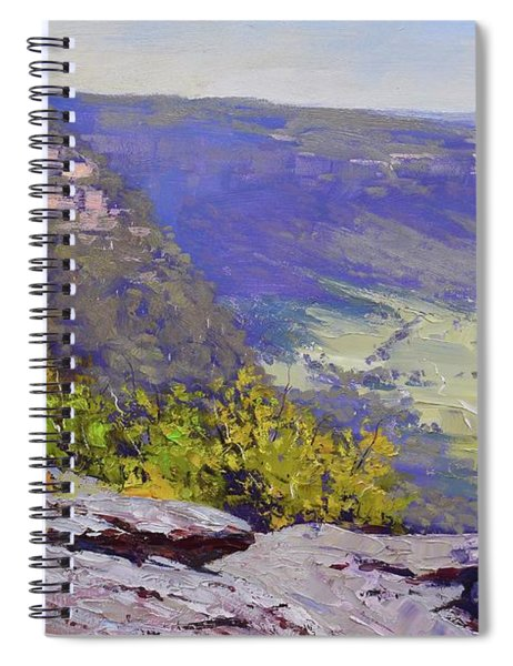 View From Hassons Wall Lithgow Spiral Notebook