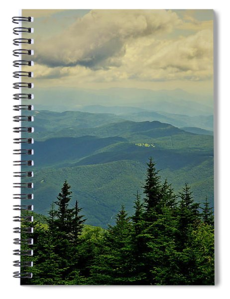 View From Mount Mitchell Spiral Notebook