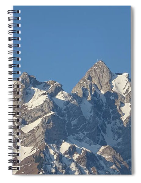 Spiral Notebook featuring the photograph View From My Art Studio - Pilatus II - April 2019 by Manuel Sueess
