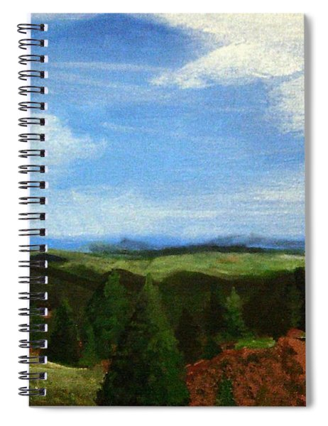 Spiral Notebook featuring the painting View From Pikes Peak by Samantha Galactica