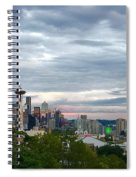 View From Queen Anne, Spiral Notebook