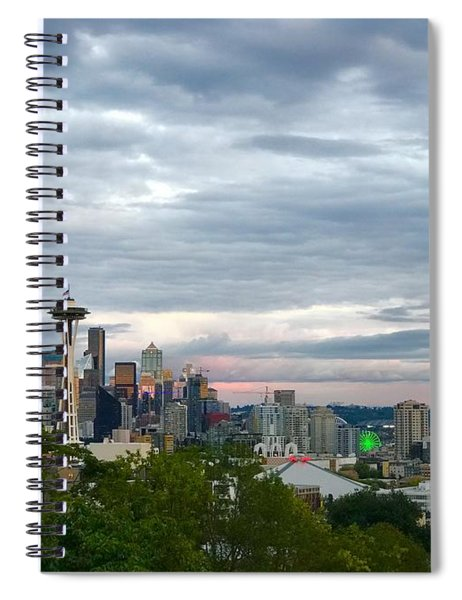 View From Queen Anne, Spiral Notebook