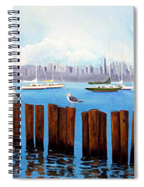 View From The Moshier's Tiki Bar Spiral Notebook