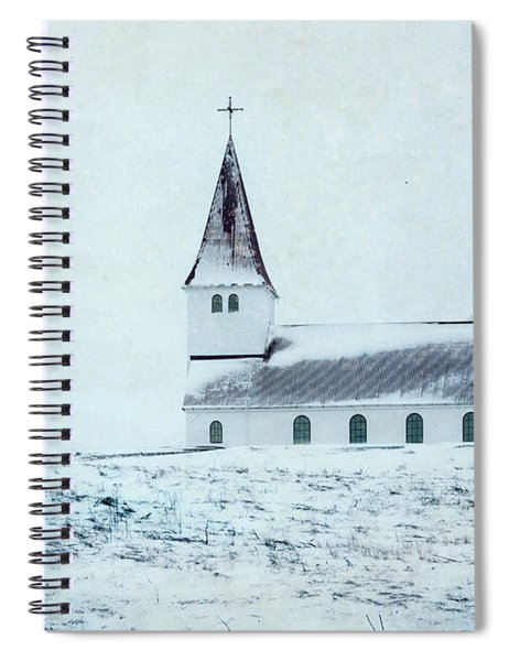 Vik I Myrdal Church In Snow Spiral Notebook