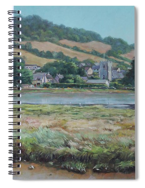 Village Of Axmouth On The River Axe Spiral Notebook