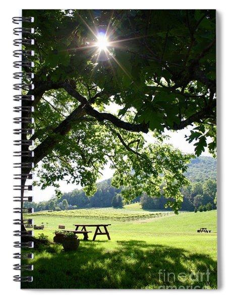 Vineyard In Georgia Spiral Notebook