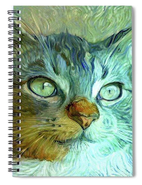Vinnie The Van Gogh Cat Spiral Notebook