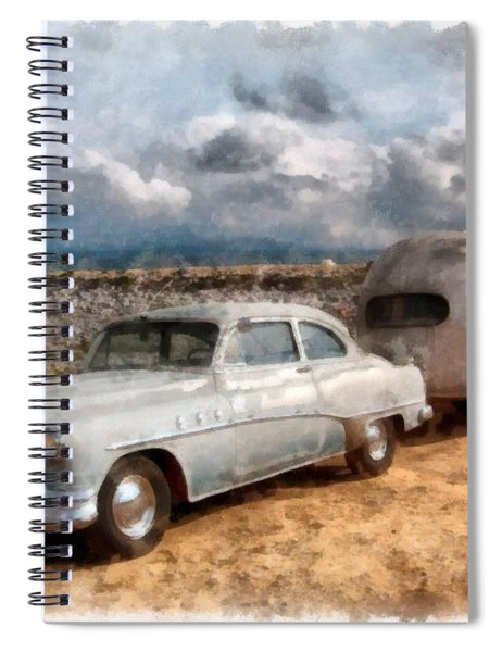 Vintage Airstream 1947 Watercolor Spiral Notebook