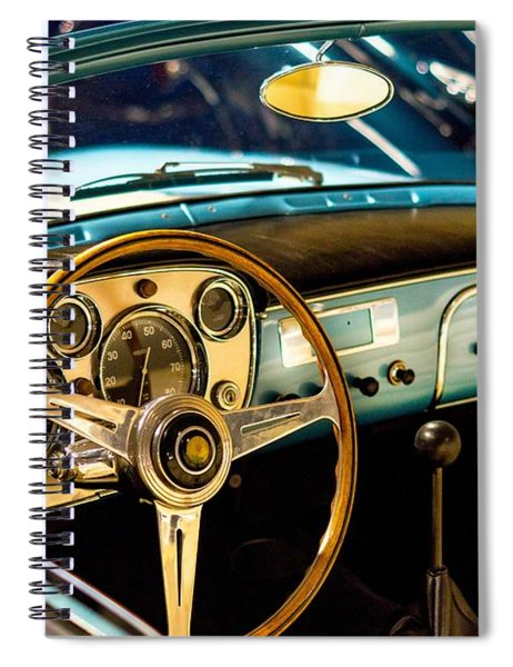 Vintage Blue Car Spiral Notebook