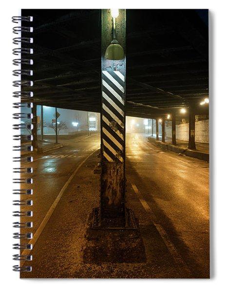 Vintage Chicago Bridge At Night Spiral Notebook