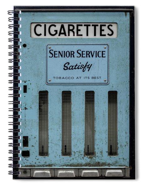 Spiral Notebook featuring the photograph Senior Service Vintage Cigarette Vending Machine by Scott Lyons