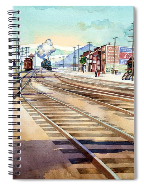 Vintage Color Columbia Rail Yards Spiral Notebook