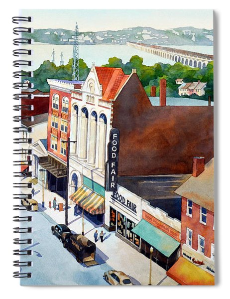Vintage Color, Columbia Rooftops Spiral Notebook