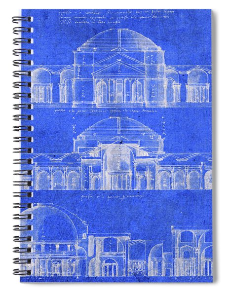 Vintage Constantine Building Architecture Blueprints Spiral Notebook