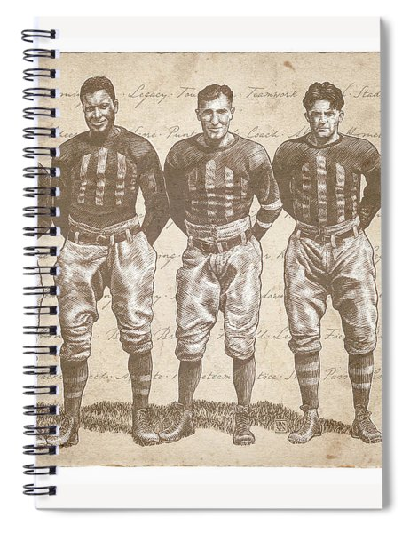 Vintage Football Heroes Spiral Notebook