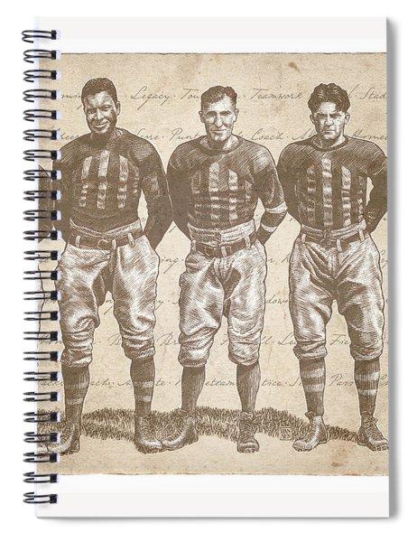 Vintage Football Heroes Spiral Notebook by Clint Hansen