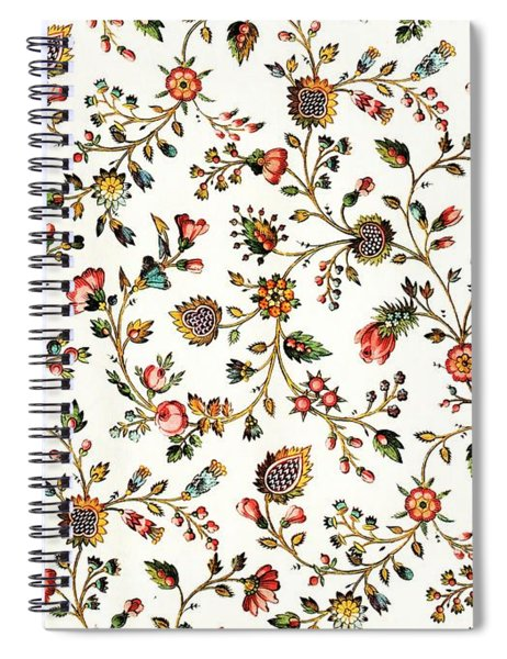 Vintage French Provincial Country Floral Design Spiral Notebook