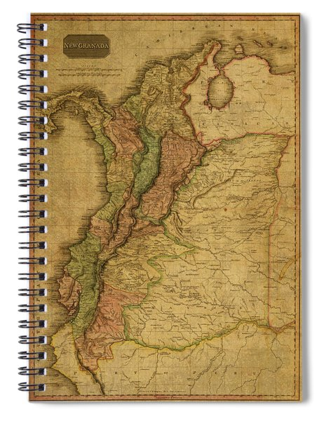 Vintage Map Of Columbia 1818 Spiral Notebook
