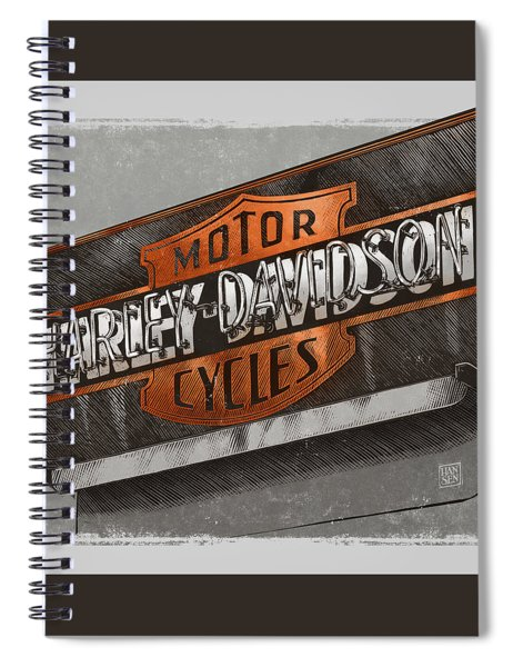 Vintage Motorcycle Shop Spiral Notebook