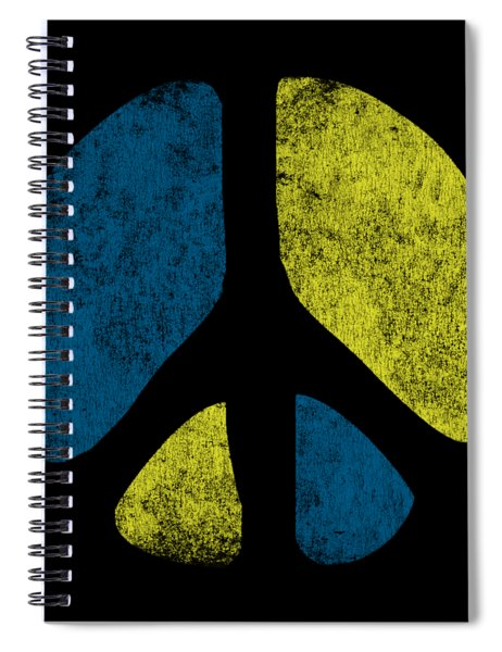 Vintage Peace Sign Spiral Notebook