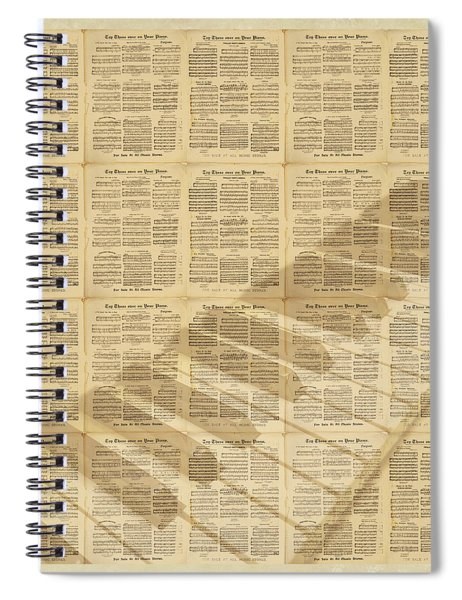 Vintage Piano Sheet Music For 1900s Songs Spiral Notebook