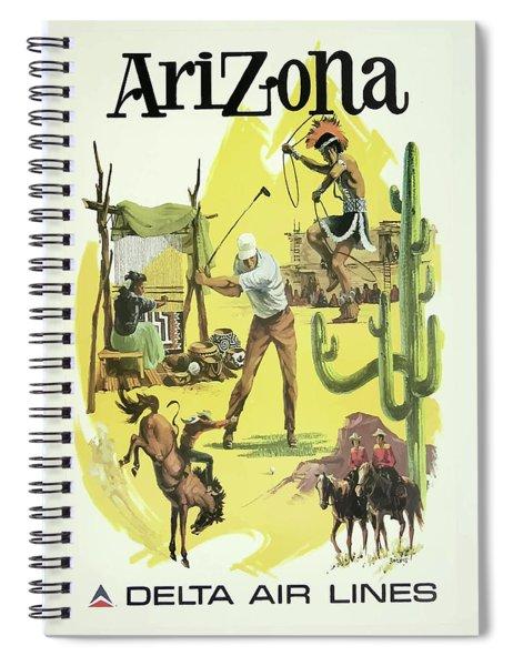 Vintage Travel Poster Arizona 2 Spiral Notebook