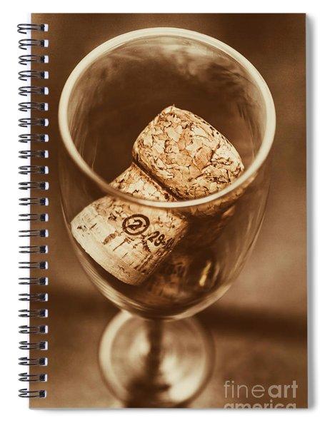 Vintage Vino Spiral Notebook