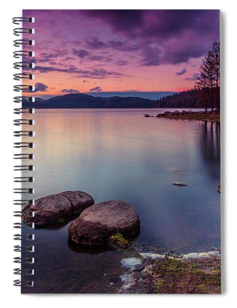 Violet Dusk Spiral Notebook