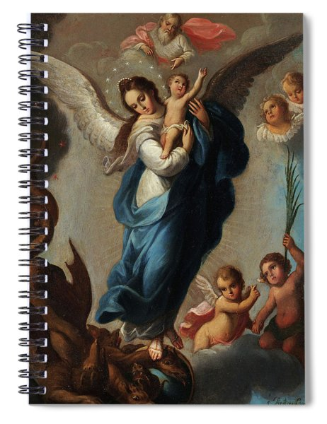 Virgin Of The Apocalypse Spiral Notebook
