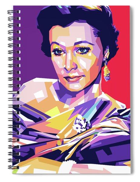 Vivien Leigh Pop Art Spiral Notebook
