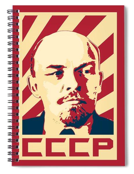 Vladimir Lenin Retro Propaganda Spiral Notebook