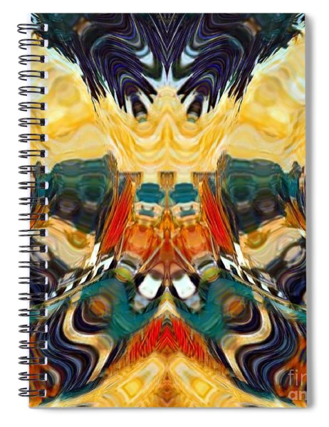 Spiral Notebook featuring the digital art Volcano by A zakaria Mami